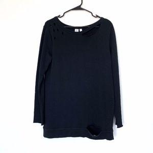 B.P. Black Cutout Long Sleeve Pullover Sweater
